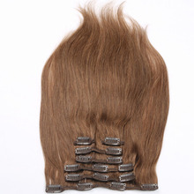 Factory wholesale virgin human hair cheap hair extensions clip in full head
