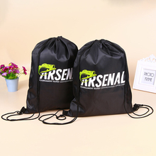 Silk Printing Sport Travelling Sack Bag Promotional Men Drawstring Backpack