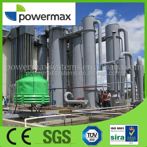 environmental friendly wood chips gas engine generator