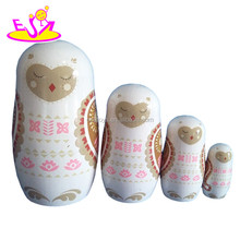 Traditional Hand Painted Wooden Matryoshka Russian Nesting Dolls for kids W06D035