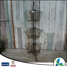 Bigger Storage 3 Tiered Kitchen Metal Hanging Fruit Basket