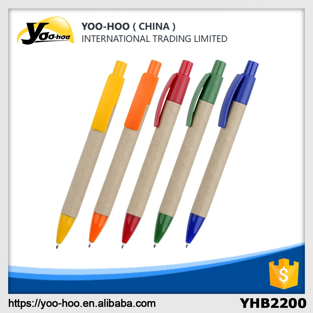 Promotion recycled paper barrel ball pen