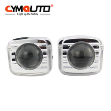 CYMAUTO Hid Car/Motorcycle 35W Projector Lens U type design LED Halo Projector Lens Light