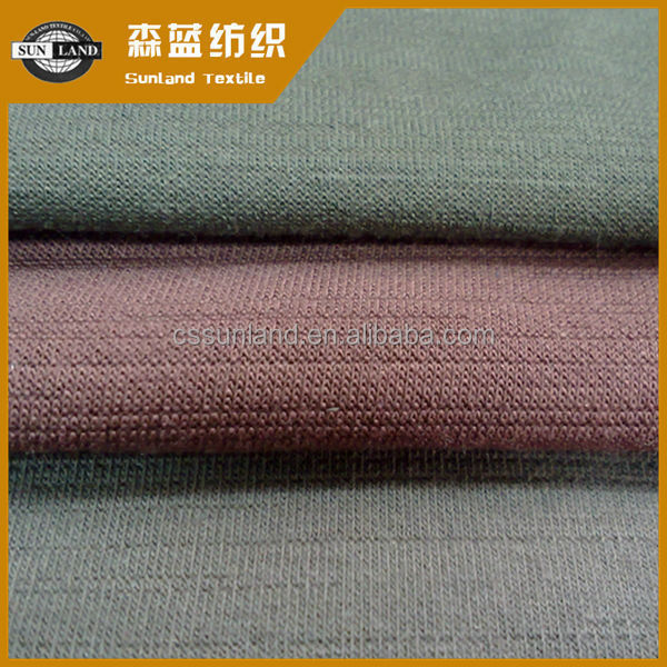knitted cotton polyester brushed slub single jersey fabric