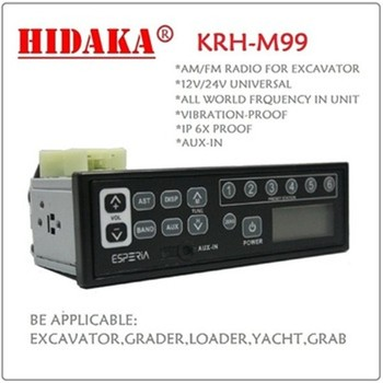 M99 Heavy Equipment Spare Parts 24 Volt Excavator Radio
