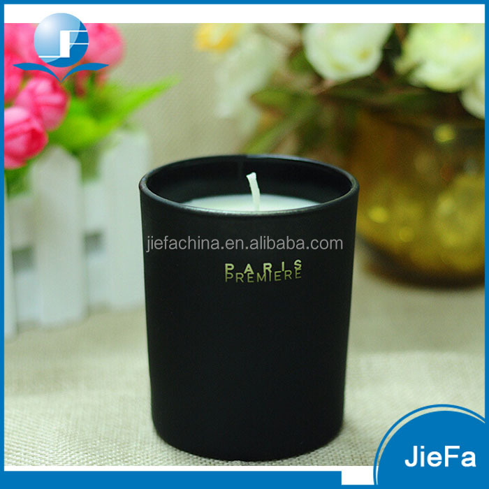 2017 small round scented tin jar glass cup candle