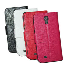 New Arrival ! Luxury Wallet Leather Case for Samsung Galaxy S4 i9500 Flip with Stand + Credit Card Holder