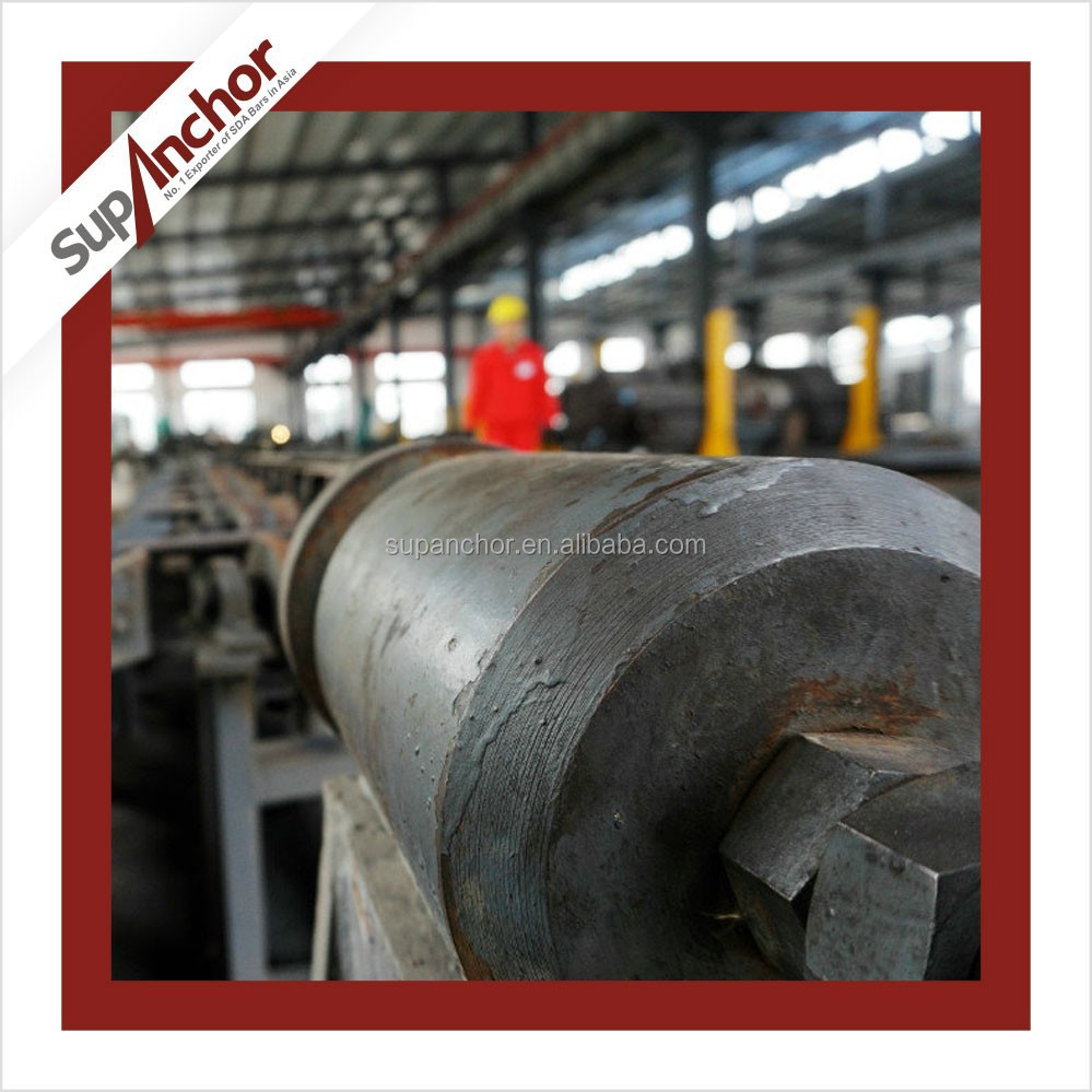SupAnchor low price tunneling construction high quality SDA hollow drilling rock anchor mine roof rock bolt and nut f57
