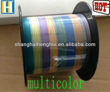 3 weave 0.1mm multicolor braided PE fish line