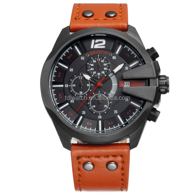 Vogue stainless steel watches for men chronograph watch