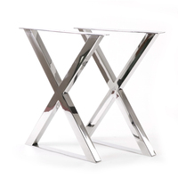 Factory price hotel design stainless steel table leg metal table legs