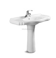 Dubai market muslim product modern decor style bathroom hand wash basin with pedestal