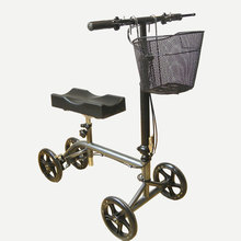 Two handle brake knee scooter with comfortable knee support walker