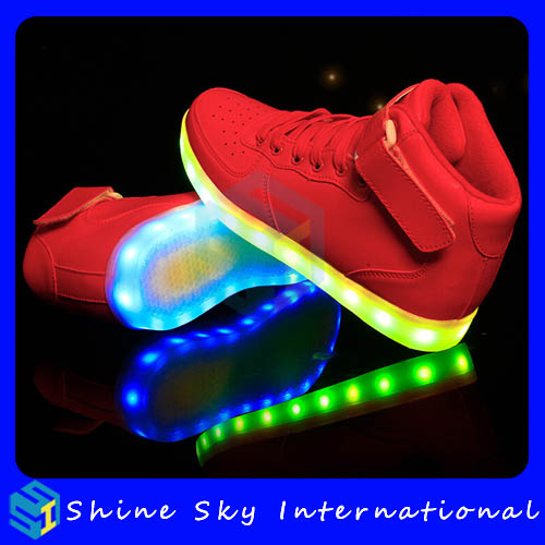 Customized brand newest 2016 simulation led shoes fashion, 2016 simulation led shoes fashion, club dance shoes fashion