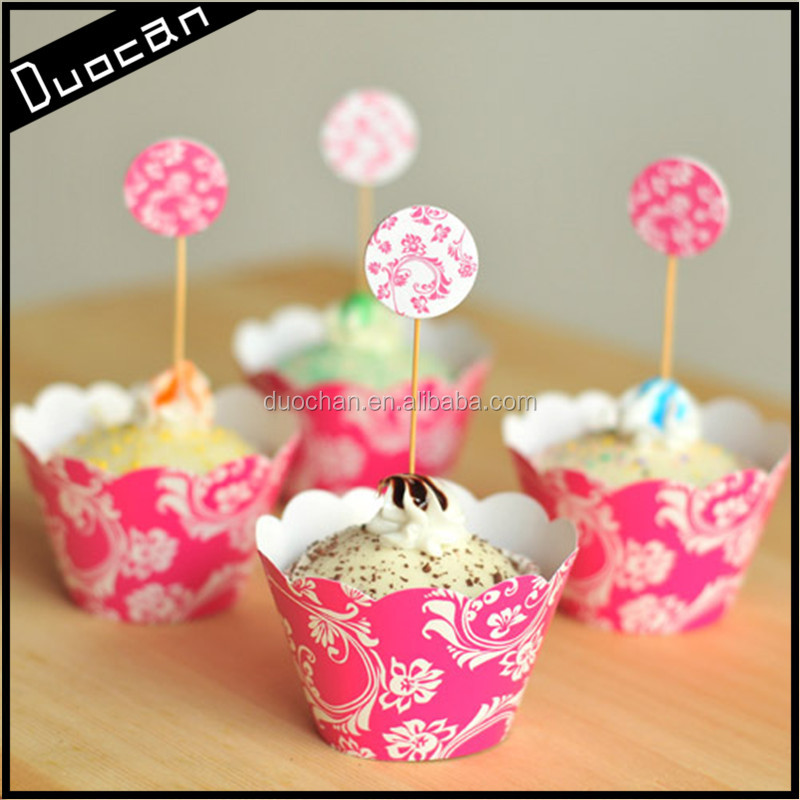 OEM wholesale birthday party decorations of paper cupcake wrapper