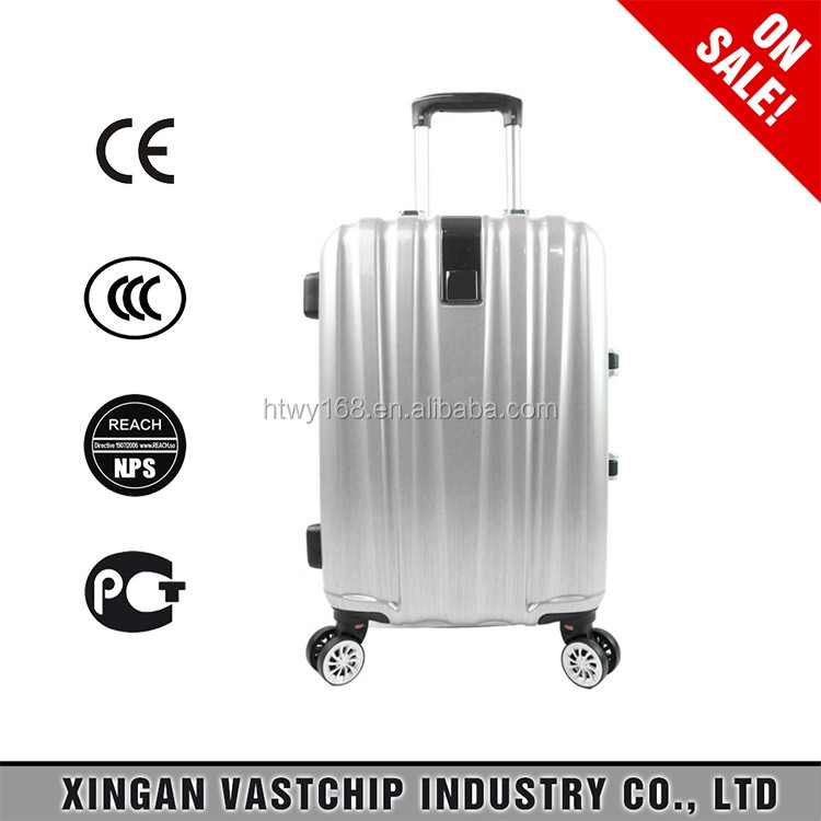 Aluminum Trolley Travel Luggage with Removable Wheels