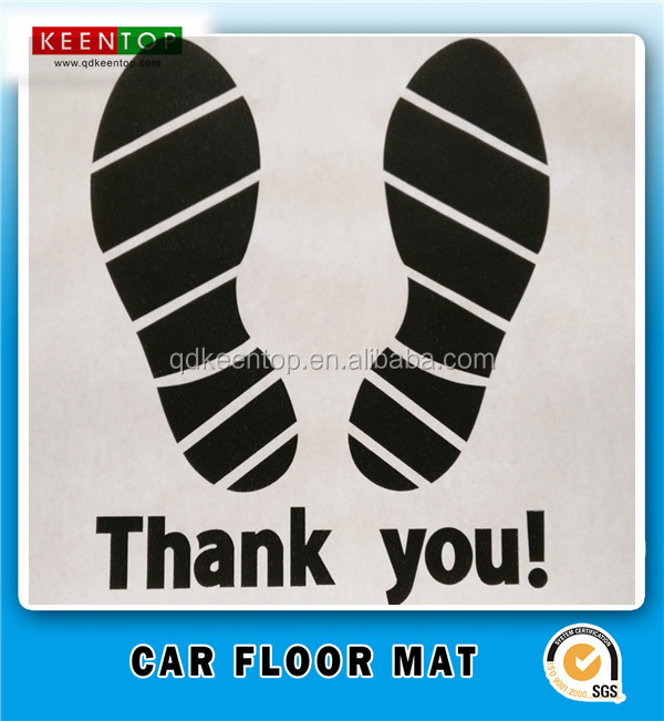 Custom printed disposable car paper floor mat