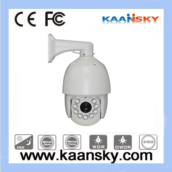 2014 Kaansky 120M Night Vision 27X 1/3 CCD 700TVL Analog Auto Tracking ir high speed dome ptz Camera