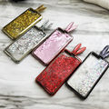 3D Cute Rabbit Ears Quicksand Glitter Stander Case For Samsung galaxy S6 S7 S7 EDGE S8 S8 PLUS NOTE 8 Silicon Liquid Cover