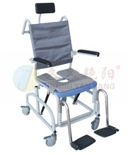 JY-XZC-01 Multifunction toilet shower chair with wheels for disabled people