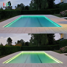 polymer solid core side glow fibre optics around pool with pvc jacket