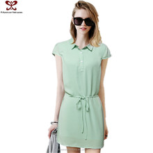 2016 Spring Summer Europe America New Fashion Chiffon Sexy Dangri Women Dress Open Shirt, Convertible Dress