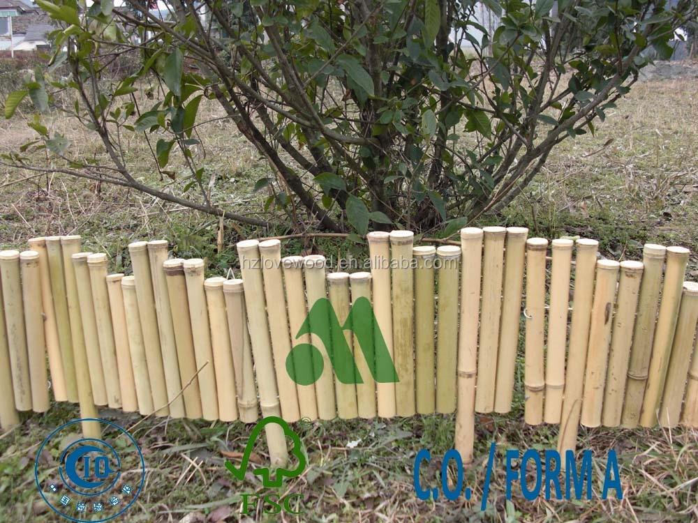 Bambou bordure fronti re en bambou fleur de bordure for Bordure de jardin en bambou