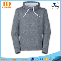 Hot sale thin grey hoodies , man polo hoody sweat shirt