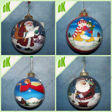 Shopping center >>>> Home Decor Design glass ball hand painted stantas on christmas sleigh indoor decoration