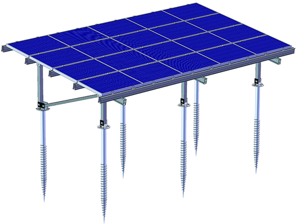 Ground solar mounting structure design
