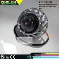 Factory price motorcycle headlight with devil eye