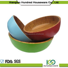 2018 Decorative Top Sell Round Bamboo Salad Serving Bowl