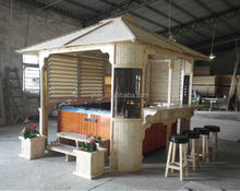 luxury wooden spa gazebo