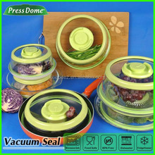 Saving space instant vacuum stackable food container set of 3 pieces
