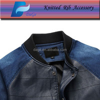Knit ribbed fabric 2x2 rib for fashion jacket
