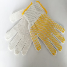 PVC dotted white safty working cotton glove
