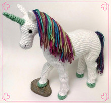 Direct-factory Wholsesale 100% Cotton Baby/Kids Handmade Crochet Unicorn Horse Stuffed Toys