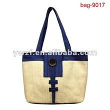 fashion faminly straw beach towel bag pattern