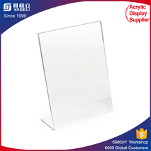 clear tabletop outdoor waterproof paper insert acrylic sign holder