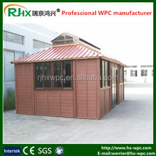 Outdoor movable wood plastic composite deck material prefab house