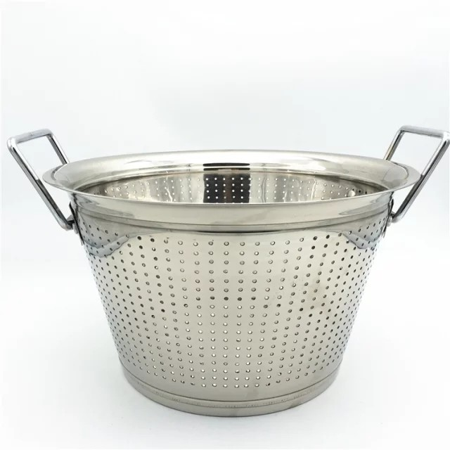 34-42cm different sizes rectangular colander stainless steel sink colander