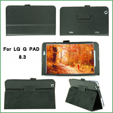 "2 Folding Ultra Slim Leather Case Stand Cover For LG G PAD 8.3"" V500 Tablet"