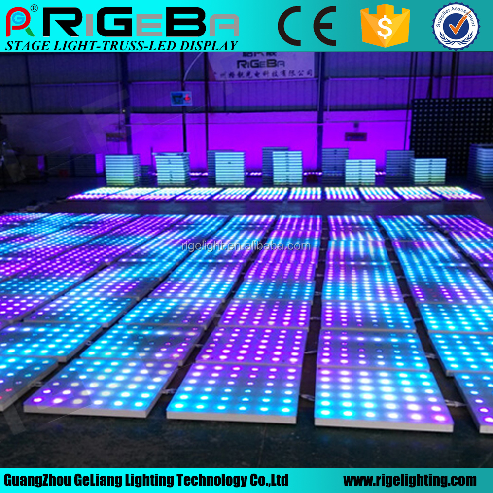 led stage effect portable dance floor 60*60cm rgb led dance floor