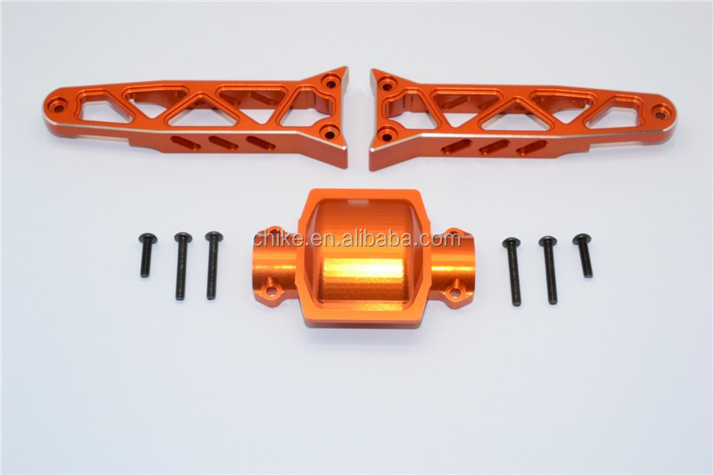 1/8 AXIAL YETI XL MONSTER BUGGY 90032 ALLOY <strong>REAR</strong> <strong>AXLE</strong> HOUSING MOUNT - 3PCS SET YTL013