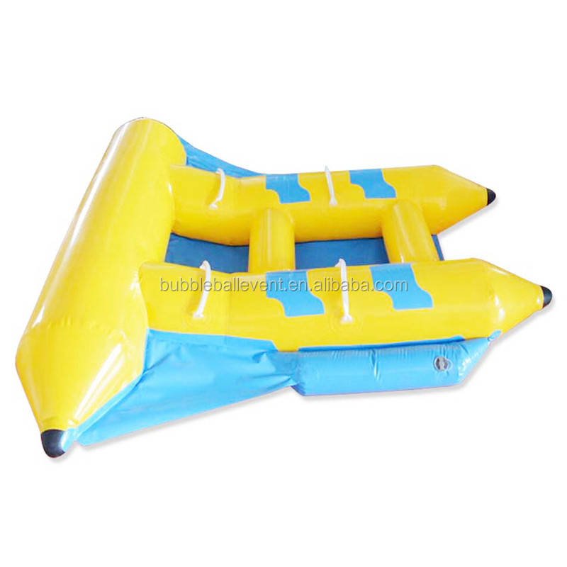 East Sports fly fish inflatable water tube banana boat raft price with high quality