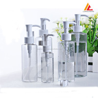 High quality PET Transparent cleansing oil bottle lotion pump bottle cheap price wholesale