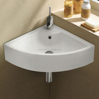 Chaozhou Ceramic Sink Small Size Corner Wash Basin (EW-J3313)