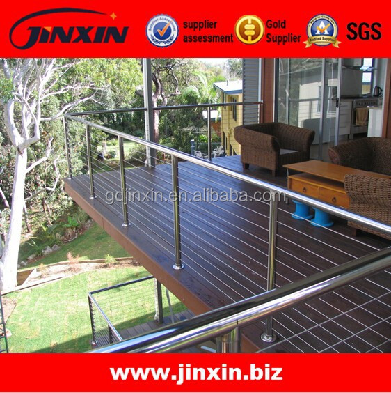 JINXIN stainless steel 304/316/316L balcony wire rope cable railing system