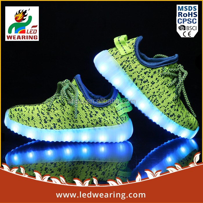 LED Shoes genuine leather night light shoes