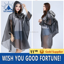 PVC waterproof Strong poncho rain coat